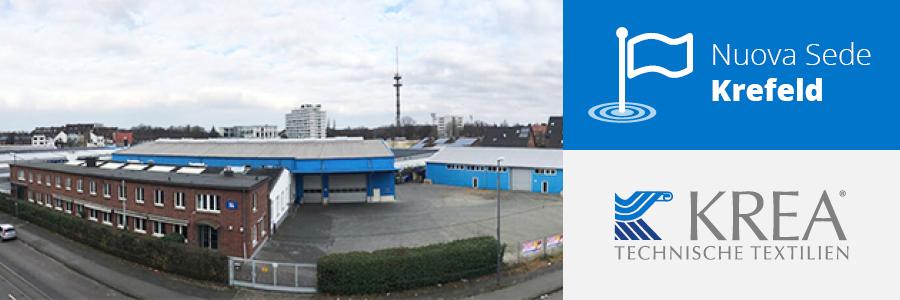 Krea Textilien, leader Europeo nella vendita del tessuto tecnico per la stampa digitale, consolida la propria crescita trasferendosi aKrefeld..